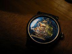 Santa Maria enamel dial watch.