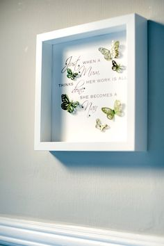 Beautiful handmade box frame picture with a by HarveySmithDesigns