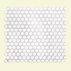 Jeffrey Court Antique Pearls 11-3/8 in. x 12-1/4 in. x 6 mm Porcelain Mosaic Tile