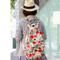 Flora Painted Retro Printing Travel Backpacks only $37.99 in ByGoods.com