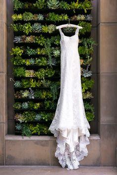 Photography: Michael Purdy Photography | Gown Design: Ines Di Santo | Venue: Bel Air Bay Club via CeremonyMagazine.com