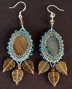 Looking for your next project? You're going to love Beaded cabochon earrings tutorial by designer gemmaster.