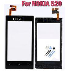 """Pantalla táctil original para nokia lumia 520 pantalla lcd digitalizador de pantalla táctil con piezas de repuesto marco + toolstouch panel de 4.0"""""""