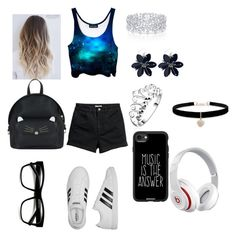 """Unit #19"" by yukidark on Polyvore featuring adidas, Accessorize, Graff, Betsey Johnson, Casetify and Beats by Dr. Dre"