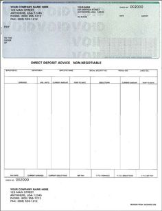 Free Paycheck Stub Template | check on top format payroll check ...