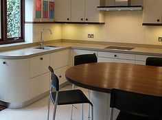 We specialise in manufacturing bespoke solid hardwood worktops. Made from wide planks or single staves of Iroko, Maple, Oak, Walnut, Ash & Cherry. Walnut Worktops, Wide Plank, Work Tops, Hardwood, American, Table, Furniture, Black, Home Decor