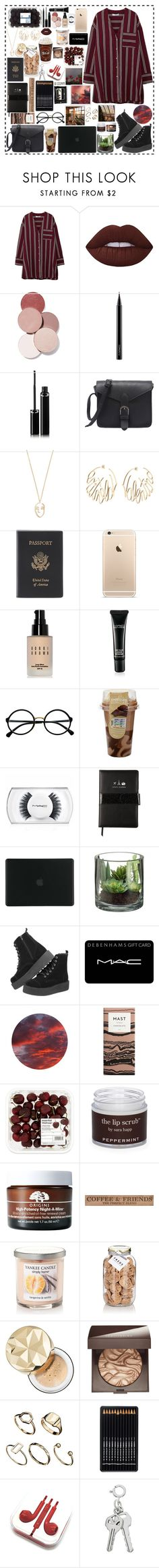 """""""Back in Red"""" by edelintess on Polyvore featuring MANGO, Lime Crime, LunatiCK Cosmetic Labs, MAC Cosmetics, Sisley, Amber Sceats, Valentino, Royce Leather, Bobbi Brown Cosmetics and Retrò"""