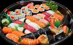 I never ate sushi before but it would be delicious (i think)