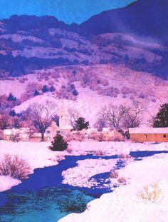 """Maxfield Parrish - """"Deep Valley"""" (1946)"""