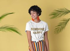 When someone says you can't do it, do it twice and take picture🌟 . by @ Apparel Sunflower Clothing, Sunflower Shirt, Retro Shirts, Vintage Shirts, Aesthetic Shirts, Thing 1, Beach Shirts, Summer Tshirts, Short Sleeve Tee