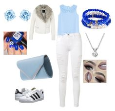 """""""Cute outfit"""" by lozza-b15 on Polyvore featuring MANGO, Frame Denim, adidas Originals, Swarovski and Sequin"""