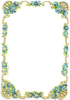 Vintage Forget-me-nots Frame ~ PJH Designs Hand Painted Antique Furniture: Free Graphic Wednesday #46