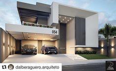"""5,528 Likes, 28 Comments - Decoraçao Arquitetura (@arquitetura.addicts) on Instagram: """"Pirando nessa arquitetura Fachada linda e incrível! Autoria @dalberaguero.arquiteto - Sigam…"""""""