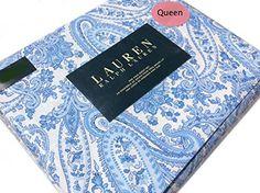 Ralph Lauren 4pc Queen Sheet Set Floral Paisley Scrolls Porcelain Blue Boteh Pattern RALPH LAUREN http://www.amazon.com/dp/B010GAFMVU/ref=cm_sw_r_pi_dp_-JFKvb0XR3EF0