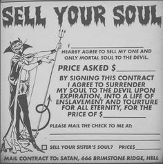 sell your soul                                                                                                                                                                                 More