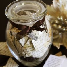 love notes in a jar.