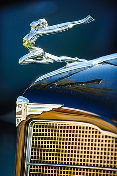 1934 Buick Series 96-C Convertible Coupe Hood Ornament - Emblem - Jill Reger - Photographic prints for sale