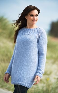 Her er sweateren, du altid vil vende tilbage til – strikket i utrolig blød alpaka, dejlig lang og med flot, bred halsrib Pullover, Fall Wardrobe, Free Pattern, Sweaters For Women, Style Inspiration, Stylish, Outfits, Clothes, Shopping