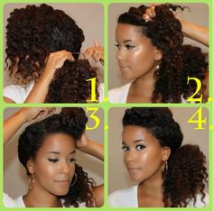 Natural hair? Here's an easy four-step option.   18 Ways To Get Your Bangs Out Of Your Face