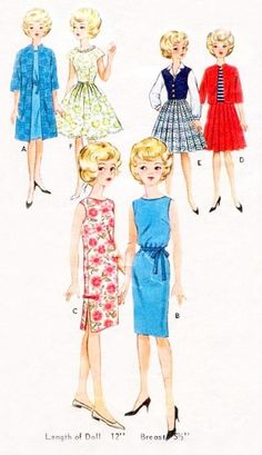 """Vintage 12"""" Doll Clothes Pattern Fits Tammy Doll 2931"""