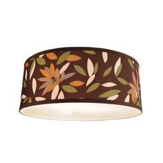 Laurel leaf drum lamp shade.