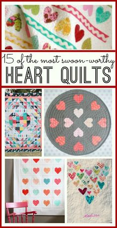 this is a great list - so many AWESOME heart quilts I have on my must-make list - so so cute!! if I were on the ball, it would make a great valentine gift idea.... - - Sugar Bee Crafts
