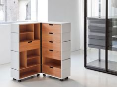 Contemporary chiffonier / in wood / leather CHAMELEON by Front Porro