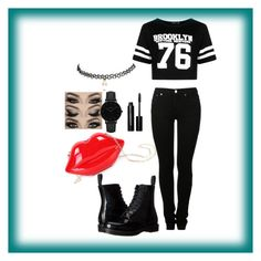 """""""This is how i do it"""" by mhizzdebbiboo ❤ liked on Polyvore featuring WithChic, MM6 Maison Margiela, Boohoo, Dr. Martens, Bobbi Brown Cosmetics, Wet Seal and CLUSE"""