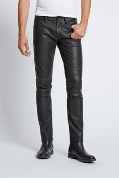 Slim Tapered Faux-Leather Moto Pants   GUESS.com