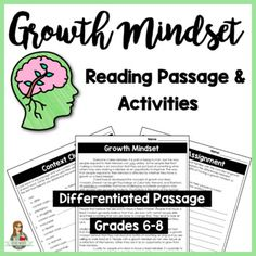Growth Mindset Differentiated Informational Text Reading P
