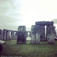 #BlueHens exploring Stonehenge. Photo by Paxton Mittleman aka @BlueHenPaxton #UDAbroad