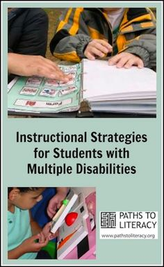 Collage of instructional strategies for multiple disabilities