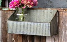 Galvanized Box Wall Shelf