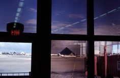 Alex Webb USA. Las Vegas, Nevada. 1997. Looking at the city from the airport.