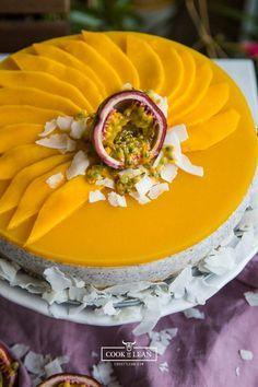 Cook it lean - tort kokosowo owocowy Healthy Sweets, Egg Free, Gluten Free, Vegan, Paleo Przepisy, Cooking, Desserts, Recipes, Food