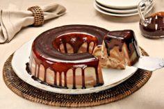 Receita de pudim mesclado de chocolate