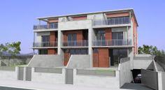 Edifcio de viviendas adosadas.