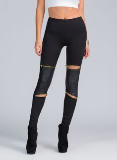 If leggings are one of your *quilty* pleasures (i.e. you wear them as pants every chance you get), don't feel bad about loving this moto-inspired pair.