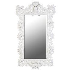 Extra Large White Rococo Mirror http://www.la-maison-chic.co.uk/Item/Extra_Large_White_Rococo_Mirror