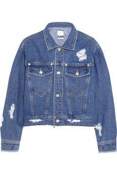 Steve J & Yoni P Cropped distressed denim jacket | NET-A-PORTER