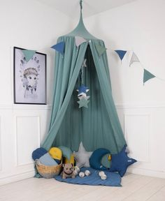 Excited to share this item from my shop: Green Baldachin, Nursery Canopy, Hanging Play Tent, S Cot Canopy, Kids Canopy, Canopy Bedroom, Cot Bedding, Teen Bedroom, Master Bedroom, Bed Canopy With Lights, Hanging Tent, Baby Boy Rooms