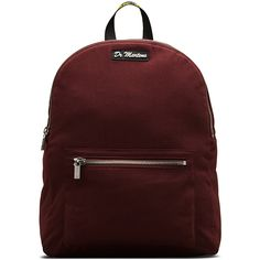 Dr. Martens Canvas Backpack (1.375 ARS) ❤ liked on Polyvore featuring bags, backpacks, accessories, red, backpack bags, red canvas bag, red bag, canvas knapsack and dr martens backpack