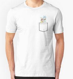 Rick and Morty T-shirt Men's Women's Art Tee  #Handmade #BasicTee