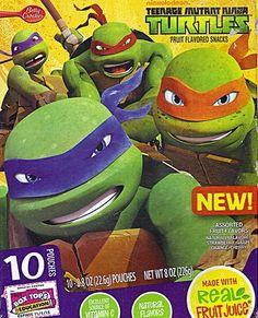 Betty Crocker Fruit Snacks Shape, Teenage Mutant Ninja Turtles, 8 Oz, New Ninja Turtle Snacks, Ninja Turtle Party, Teenage Turtles, Teenage Mutant Ninja Turtles, Fruit Pouches, Fruit Strips, Fruits For Kids, Kids Fruit, Fruit Snacks