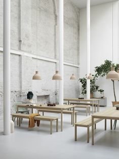 Timeless Scandinavian dining table in solid wood from Muuto:  The Linear Wood Table brings a simple and elegant perspective to wooden furniture through its modern form language with understated details for a long-lasting expression