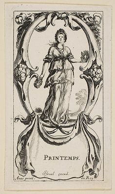 Etched by Stefano della Bella (Italian, 1610–1664). Spring, ca. 1641. The Metropolitan Museum of Art, New York. The Elisha Whittelsey Collection, The Elisha Whittelsey Fund, 1960 (60.623.34(1))