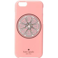 Kate Spade New York Jeweled Grapefruit iPhone Case for iPhone 6 (Pink)... ($45) ❤ liked on Polyvore featuring accessories, tech accessories, apple iphone cases, kate spade iphone case, kate spade, iphone cover case and iphone cell phone cases