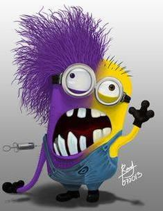Minion Psycho, Bipolar disorder, drugs or all of the above? 。◕‿◕。 See my Despicable Me Minions pins Minion Rock, My Minion, Minion Stuff, Evil Minions, Minions Despicable Me, Minion Face Paint, Funny Minion Pictures, Humor, Astronaut
