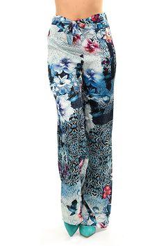 LIU.JO - Pantaloni - Abbigliamento - Pantaloni modello a palazzo a vita  alta con