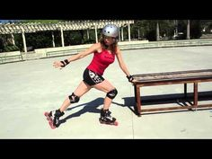 How to do a backwards inverted Powerslide on rollerblades or inline skates. - YouTube